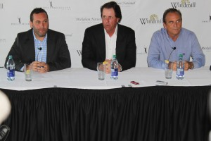 L-R: Barry Ehlert, Phil Mickelson, Rick Smith